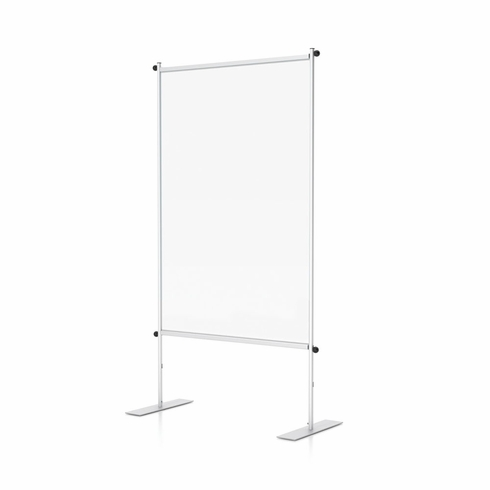 """Clear Room Partition 36""""W Flat Base"""