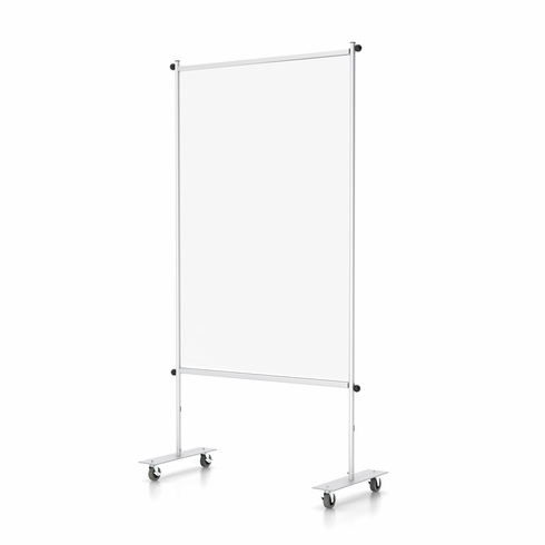 "Clear Room Partition 36""w With Casters"