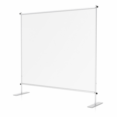 "Clear Room Partition 72""w Flat Base"