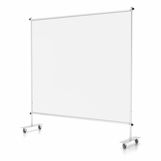 "Clear Room Partition 72""w With Casters"