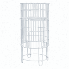 Collapsible Round Display Basket 15in. White