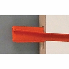 "Color Snap Slatwall Insert 96"" Set of 16 inserts Red"
