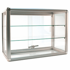 Counter Display Case Aluminum Frame 24in.W Silver