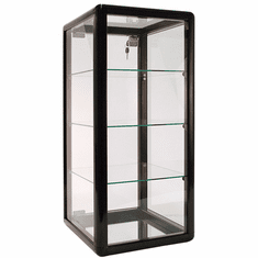 Counter Display Case Aluminum Frame 27in.H Black
