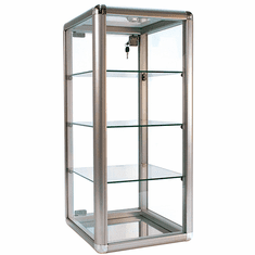 Counter Display Case Aluminum Frame 27in.H Silver