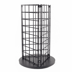 Counter Top 3 Sided Grid Spinner Black
