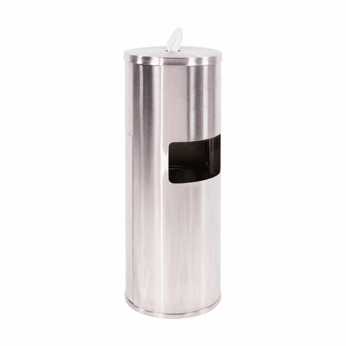 Disinfecting Wipe Dispenser With Trash Bin