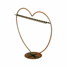Earring Display Heart with Hooks Copper