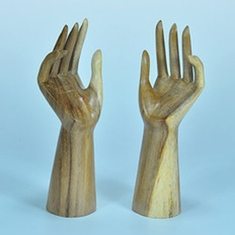 "Elite Natural Wood Hand Display 10"" H"