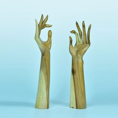 "Elite Natural Wood Hand Display, 15"" H"