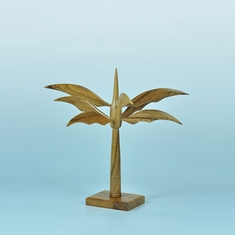 Elite Natural Wood Palm Tree Earring Display