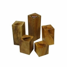 Elite Natural Wood Ring Block Set