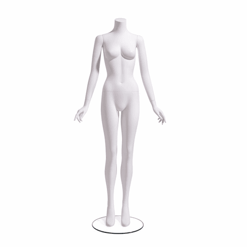 Female Mannequin Headless, Arms at Side
