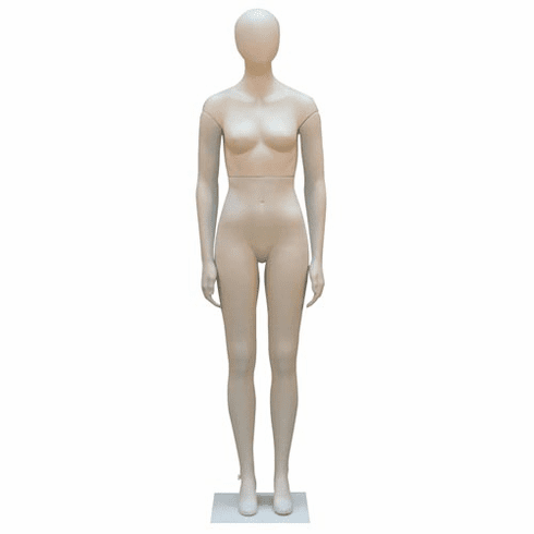 Female Mannequin With Oval Head With Straight Legs and Arms