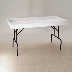 Folding Dump Table White