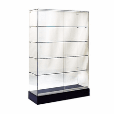 "Frameless Glass Tower Display Case 48"" Wide"