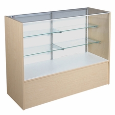 """Full Vision Display Case 48"""" Maple Assembled"""