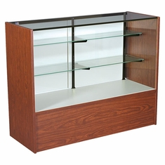"""Full Vision Display Case with Light 48"""" Cherry Assembled"""