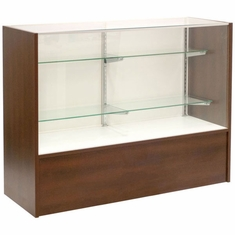 """Full Vision Display Case with Light 48"""" Chocolate Cherry Assembled"""