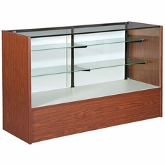 """Full Vision Display Case with Light 60"""" Cherry Assembled"""