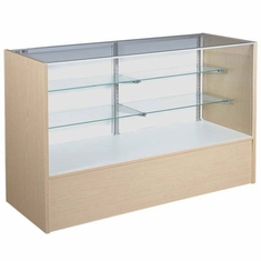 """Full Vision Display Case with Light 60"""" Maple Assembled"""