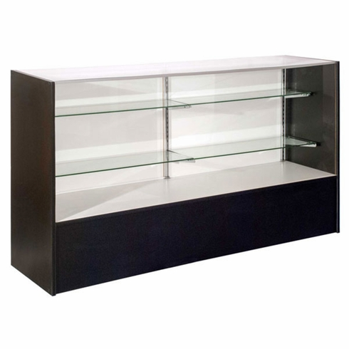 """Full Vision Display Case with Light 70"""" Black Assembled"""