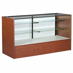 """Full Vision Display Case with Light 70"""" Cherry Assembled"""