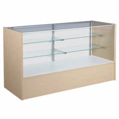 """Full Vision Display Case with Light 70"""" Maple Assembled"""