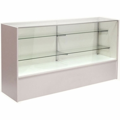 """Full Vision Display Case with Light 70"""" White Assembled"""