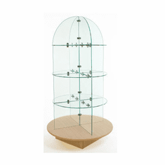 Glass Merchandiser with Round Base