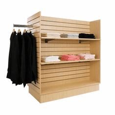 Gondola Slatwall Merchandiser Maple