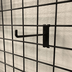 Gridwall 6in. Hook w/90 Degree Tip Black