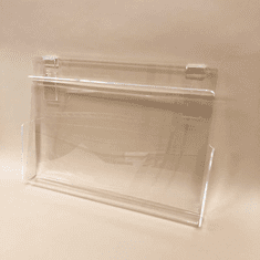 Gridwall Acrylic Brochure Holder with Hold-Down Flap
