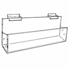 Gridwall Acrylic Closed-End J-Shelf