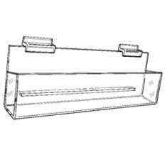 Gridwall Acrylic Tilted Closed-End J-Shelf