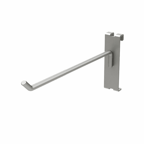 "Gridwall Hook 6"" Silver for Queuing System"