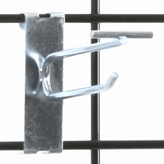 Gridwall Scanner Hook - 4in. Zinc Finish