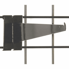 Gridwall Shelf Bracket 12in. Black