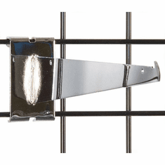 Gridwall Shelf Bracket 12in. Chrome