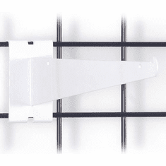 Gridwall Shelf Bracket 12in. White
