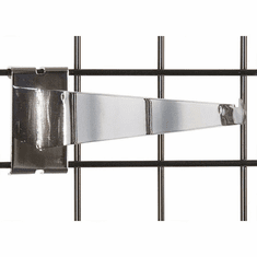 Gridwall Shelf Bracket 14in. Chrome