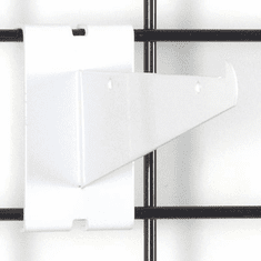 Gridwall Shelf Bracket 6in. White