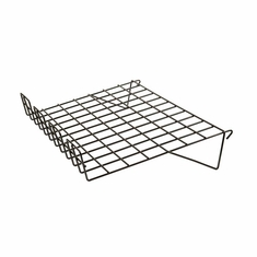 "Gridwall Sloping Shelf 14""D x 22-1/2""L with 3"" Lip Black"