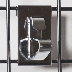 Gridwall Wheel Holder Bracket Chrome