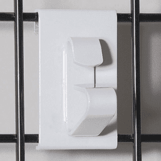 Gridwall Wheel Holder Bracket White