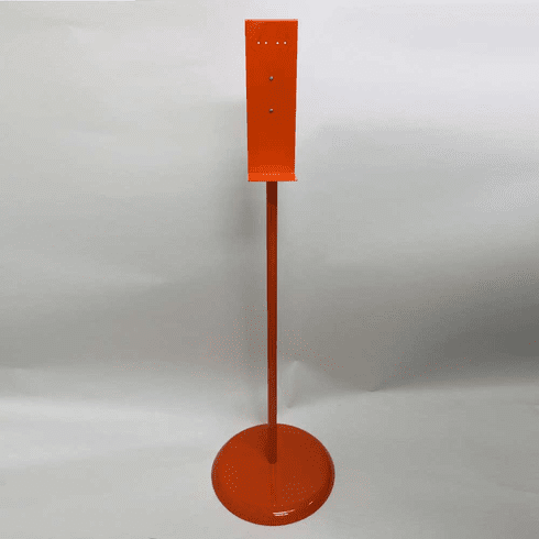 Heavy Duty Hand Sanitizer Dispenser Stand Orange
