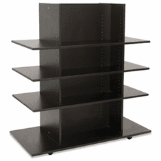 Knock Down Merchandiser Black W/ 3 Black Shelves