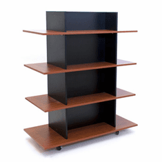 Knock Down Merchandiser Black W/ 3 Cherry Shelves