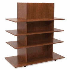 Knock Down Merchandiser Cherry W/ 3 Cherry Shelves