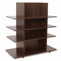 Knock Down Merchandiser Chocolate Cherry W/ 3 Chocolate Cherry Shelves